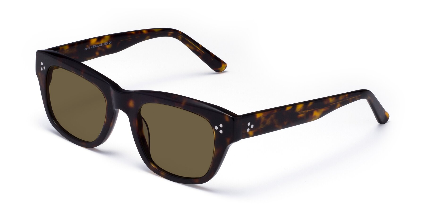 Angle of April in Tortoise with Brown Polarized Lenses