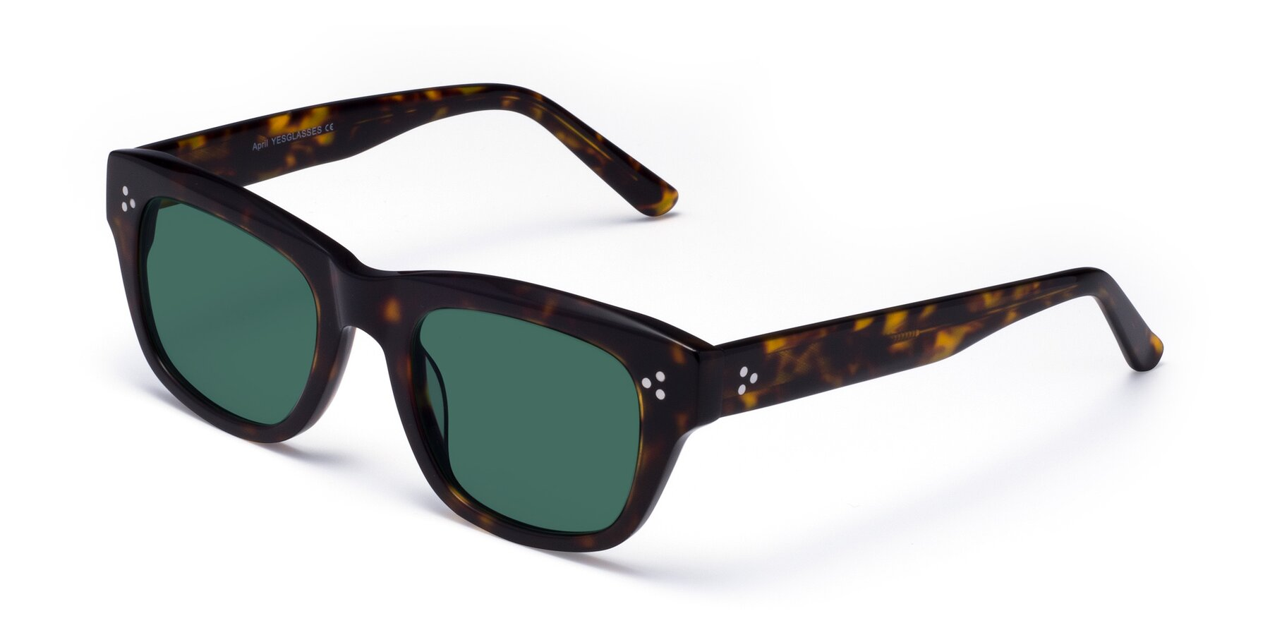 Angle of April in Tortoise with Green Polarized Lenses
