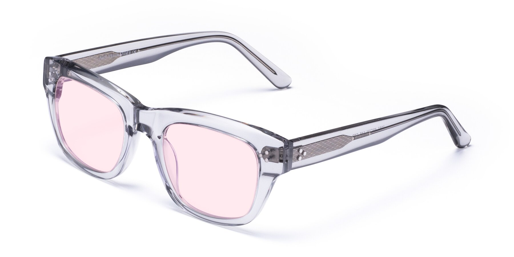 Angle of April in Clear with Light Pink Tinted Lenses