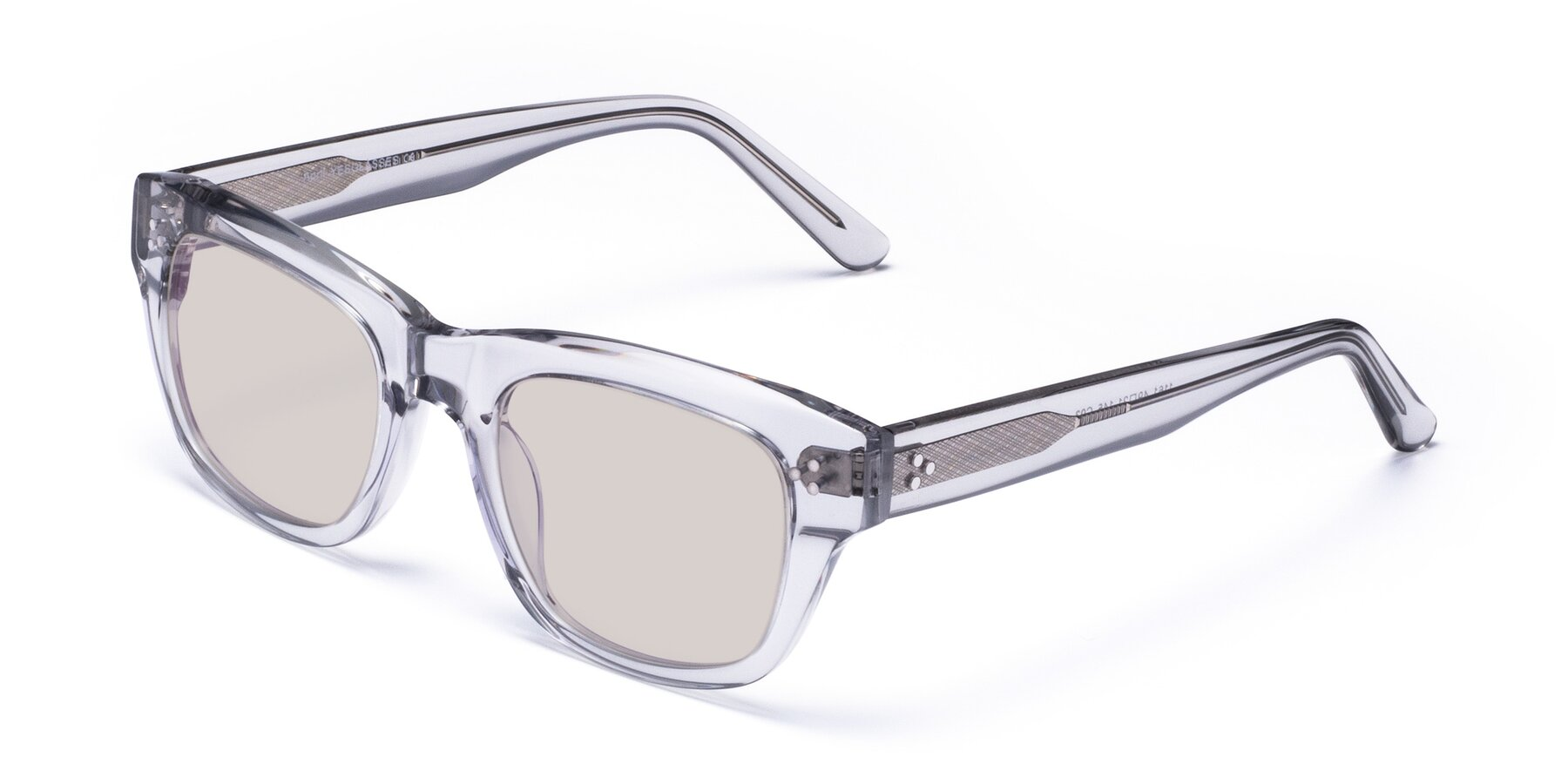 Angle of April in Clear with Light Brown Tinted Lenses