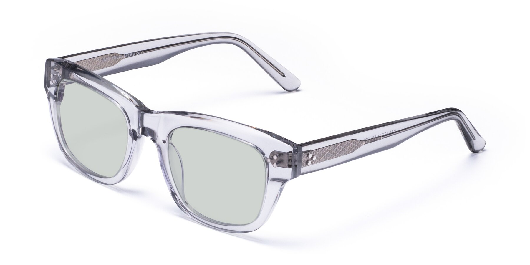 Angle of April in Clear with Light Green Tinted Lenses