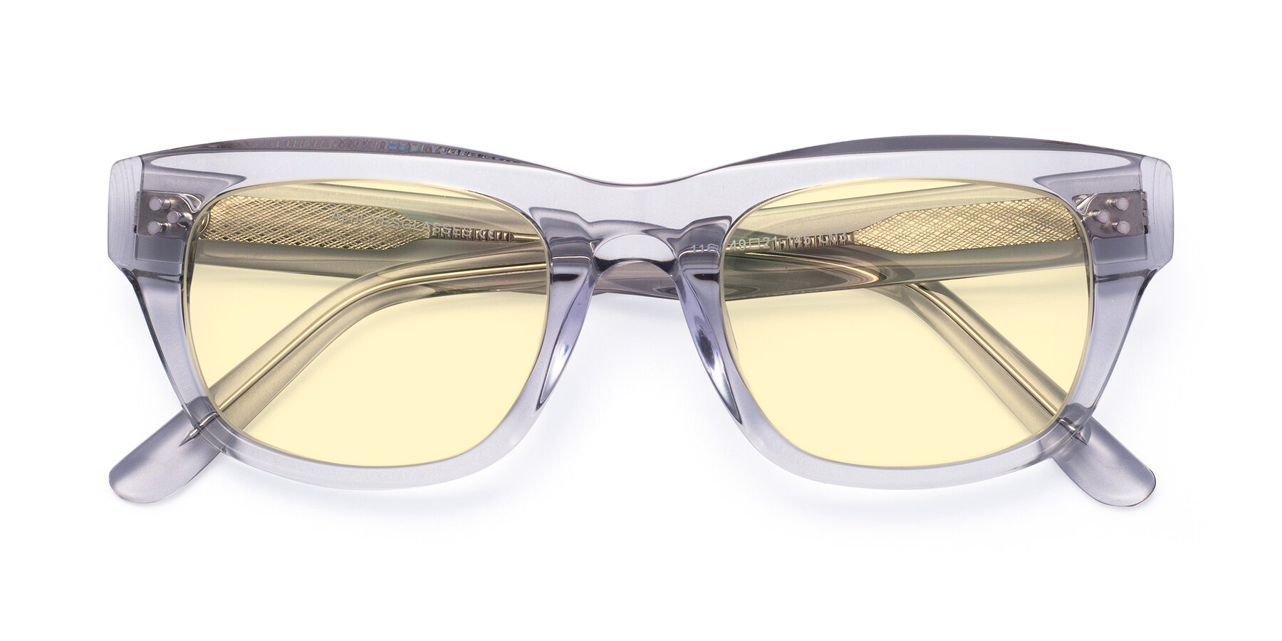 Folded Front of April in Clear with Light Yellow Tinted Lenses