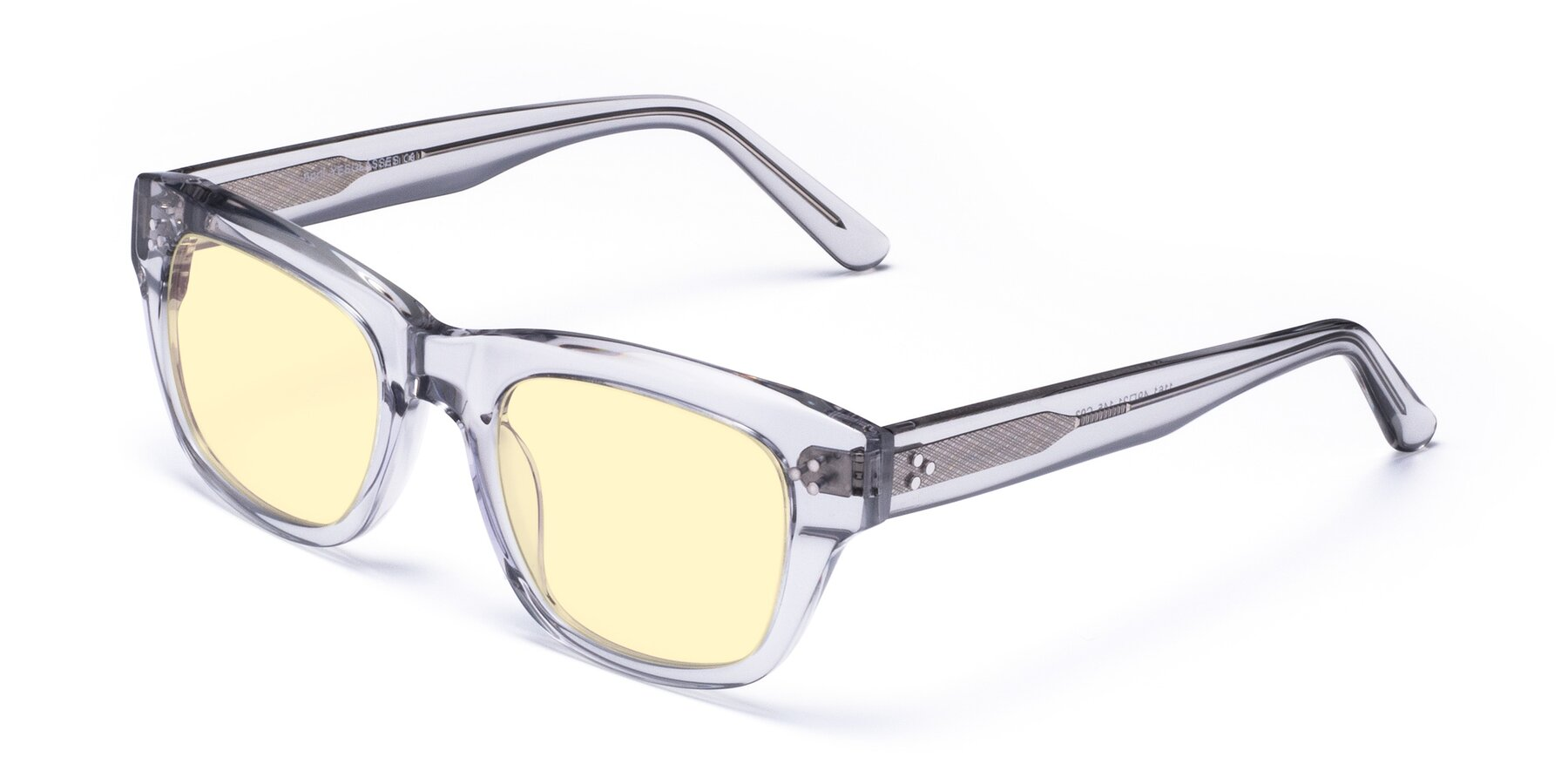 Angle of April in Clear with Light Yellow Tinted Lenses