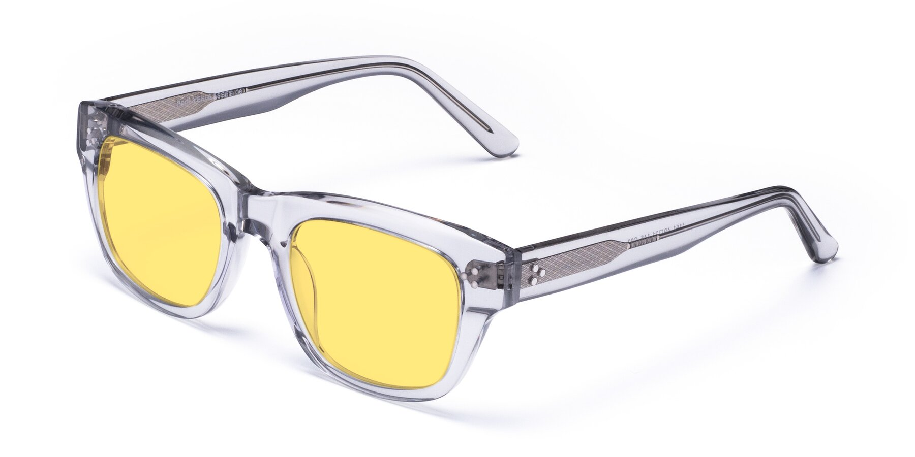 Angle of April in Clear with Medium Yellow Tinted Lenses