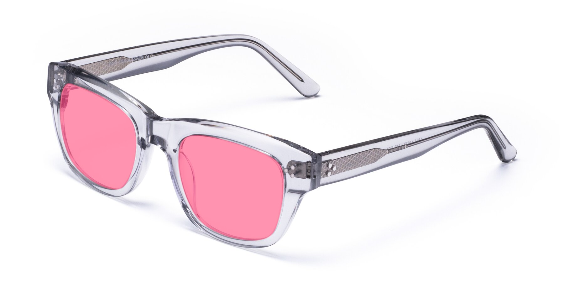 Angle of April in Clear with Pink Tinted Lenses