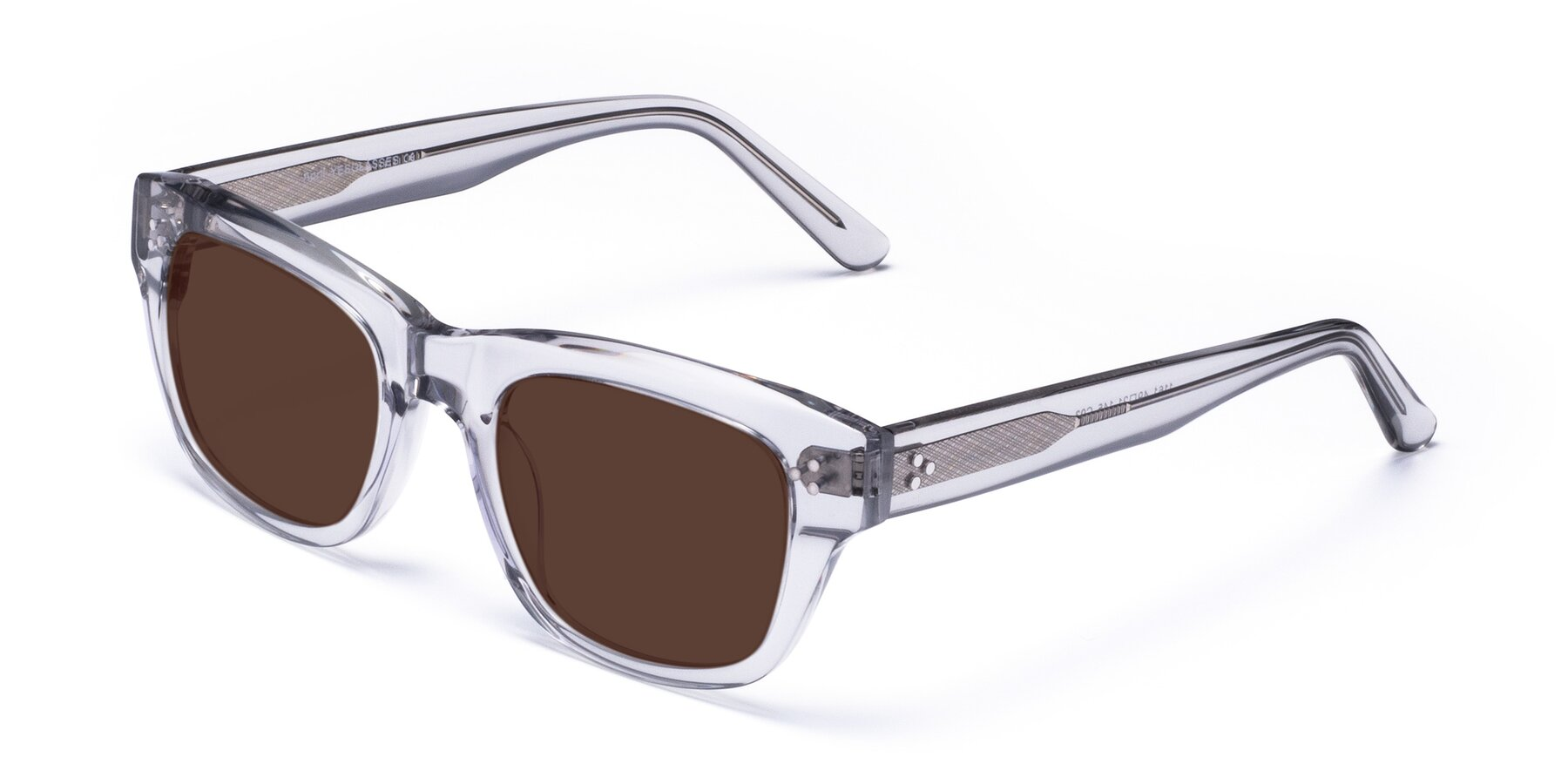 Angle of April in Clear with Brown Tinted Lenses