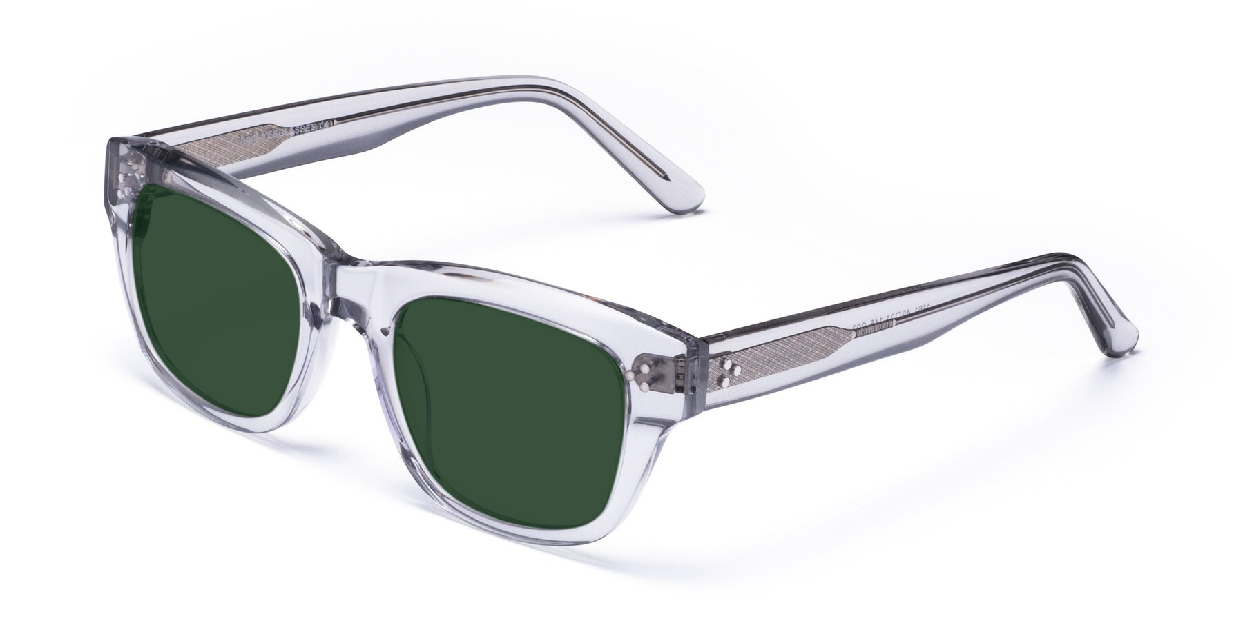 Angle of April in Clear with Green Tinted Lenses