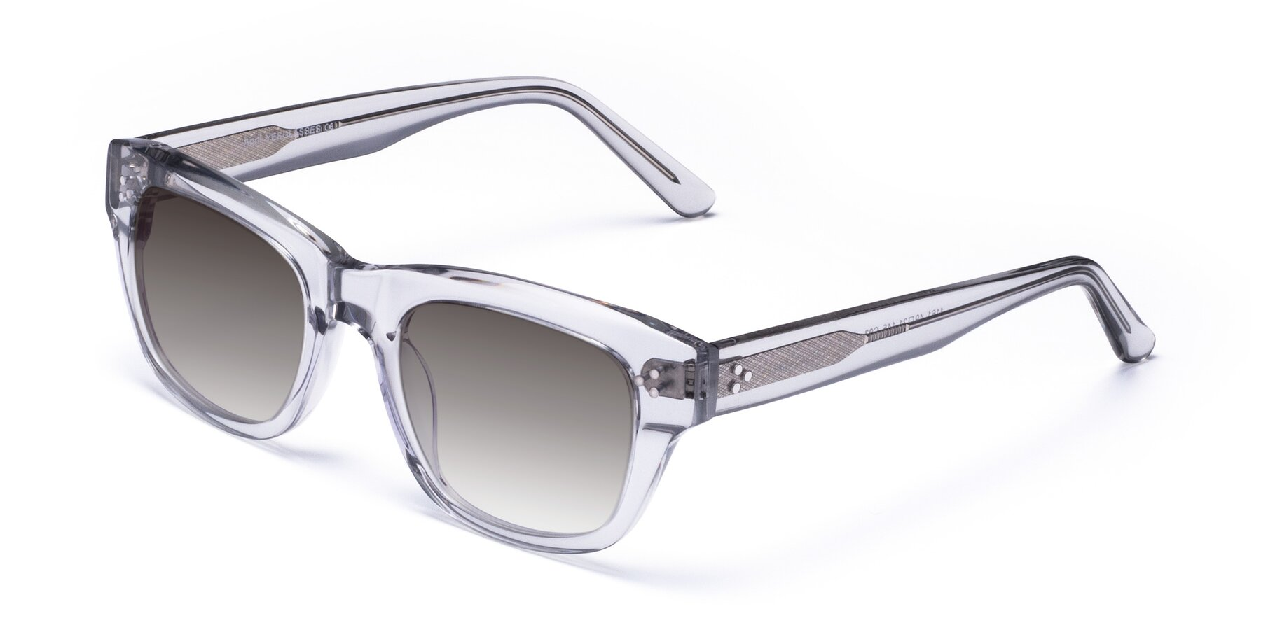 Angle of April in Clear with Gray Gradient Lenses