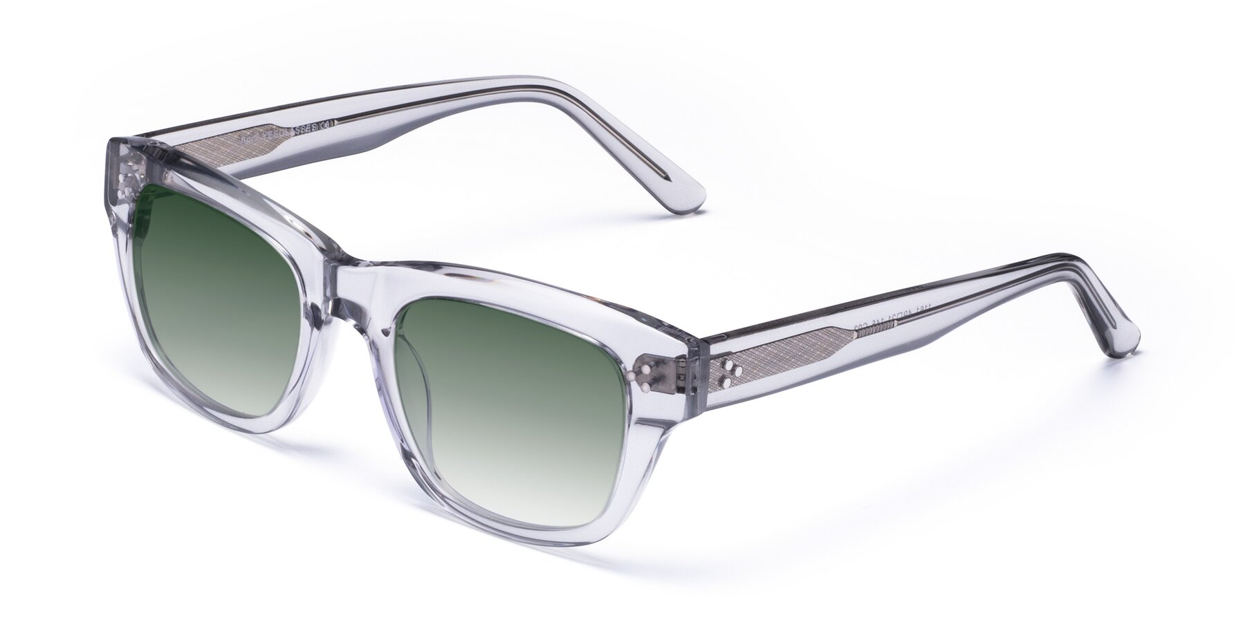Angle of April in Clear with Green Gradient Lenses