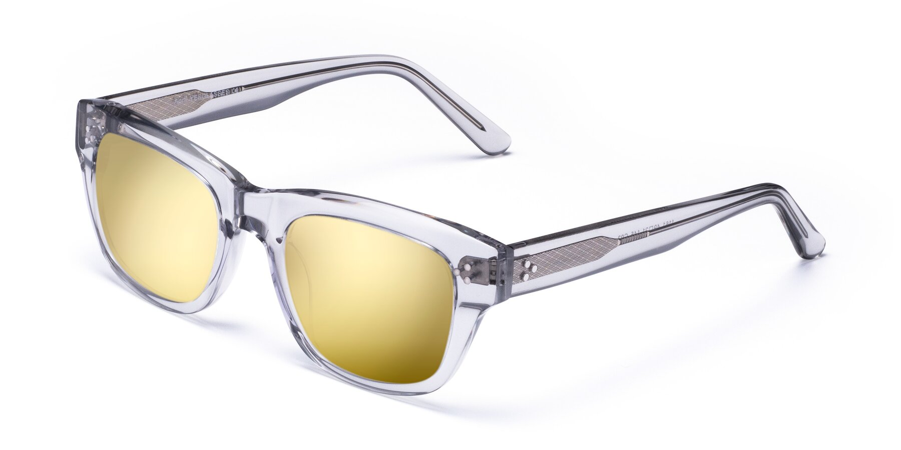 Angle of April in Clear with Gold Mirrored Lenses