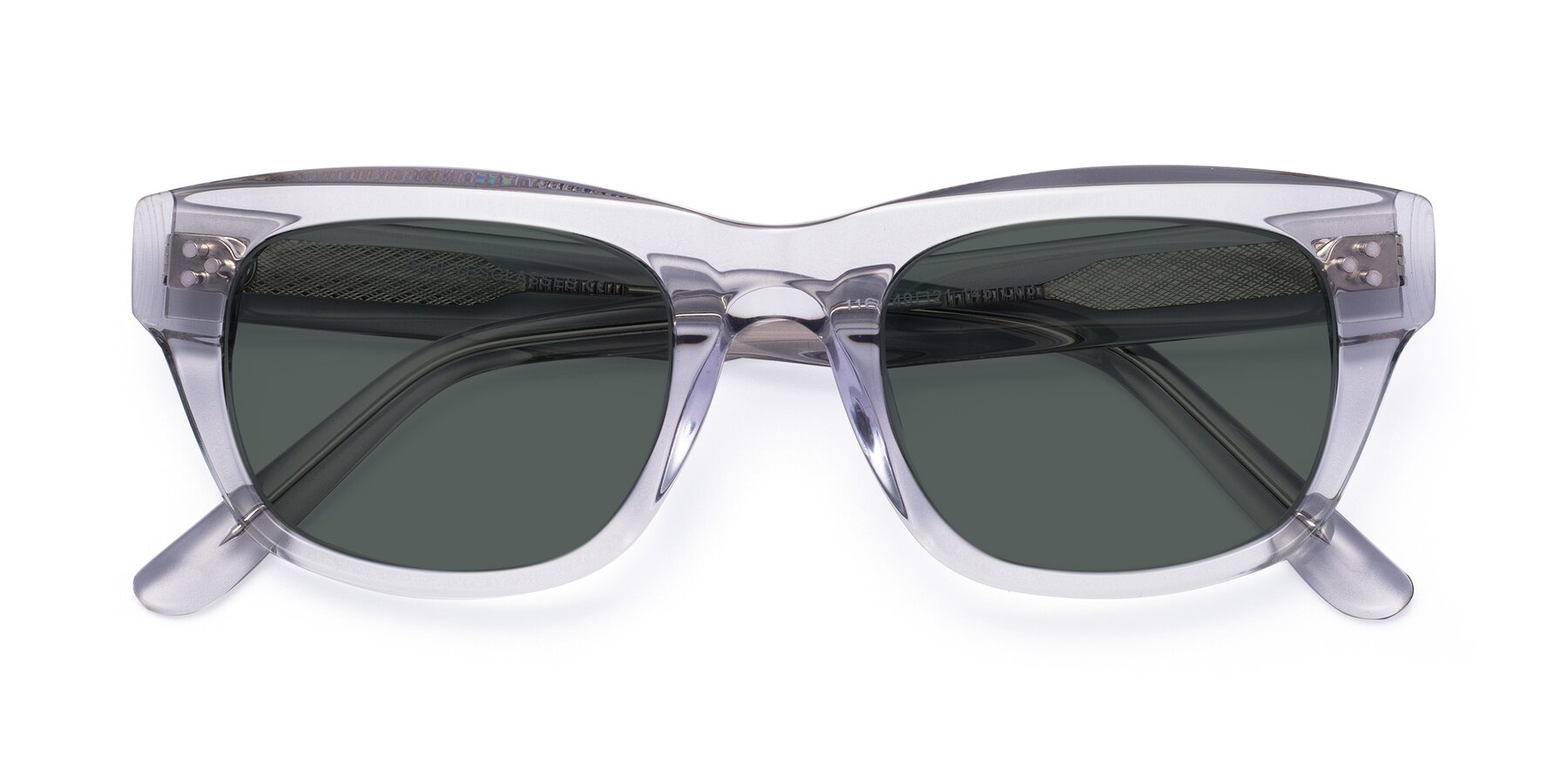 Folded Front of April in Clear with Gray Polarized Lenses