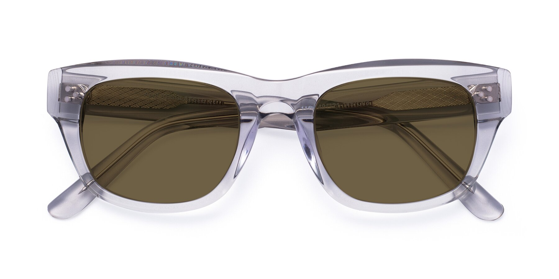 Folded Front of April in Clear with Brown Polarized Lenses