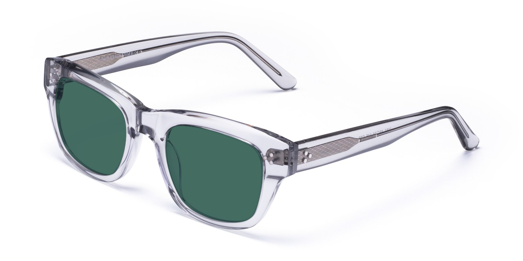 Angle of April in Clear with Green Polarized Lenses