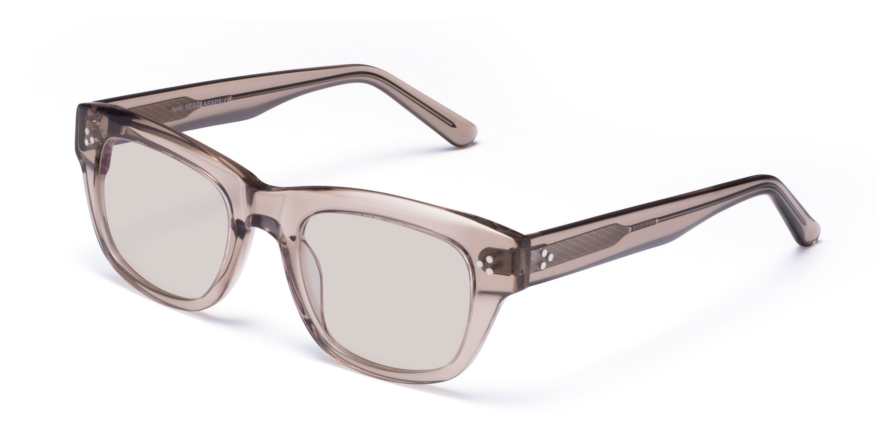 Angle of April in Amber with Light Brown Tinted Lenses