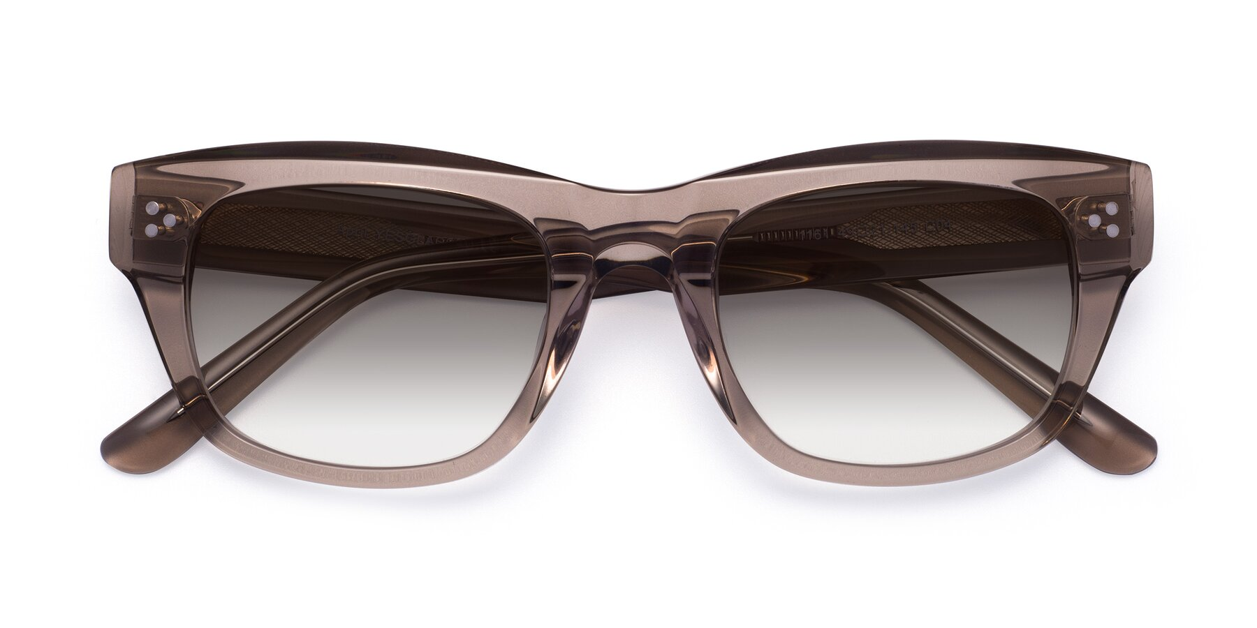 Folded Front of April in Amber with Gray Gradient Lenses