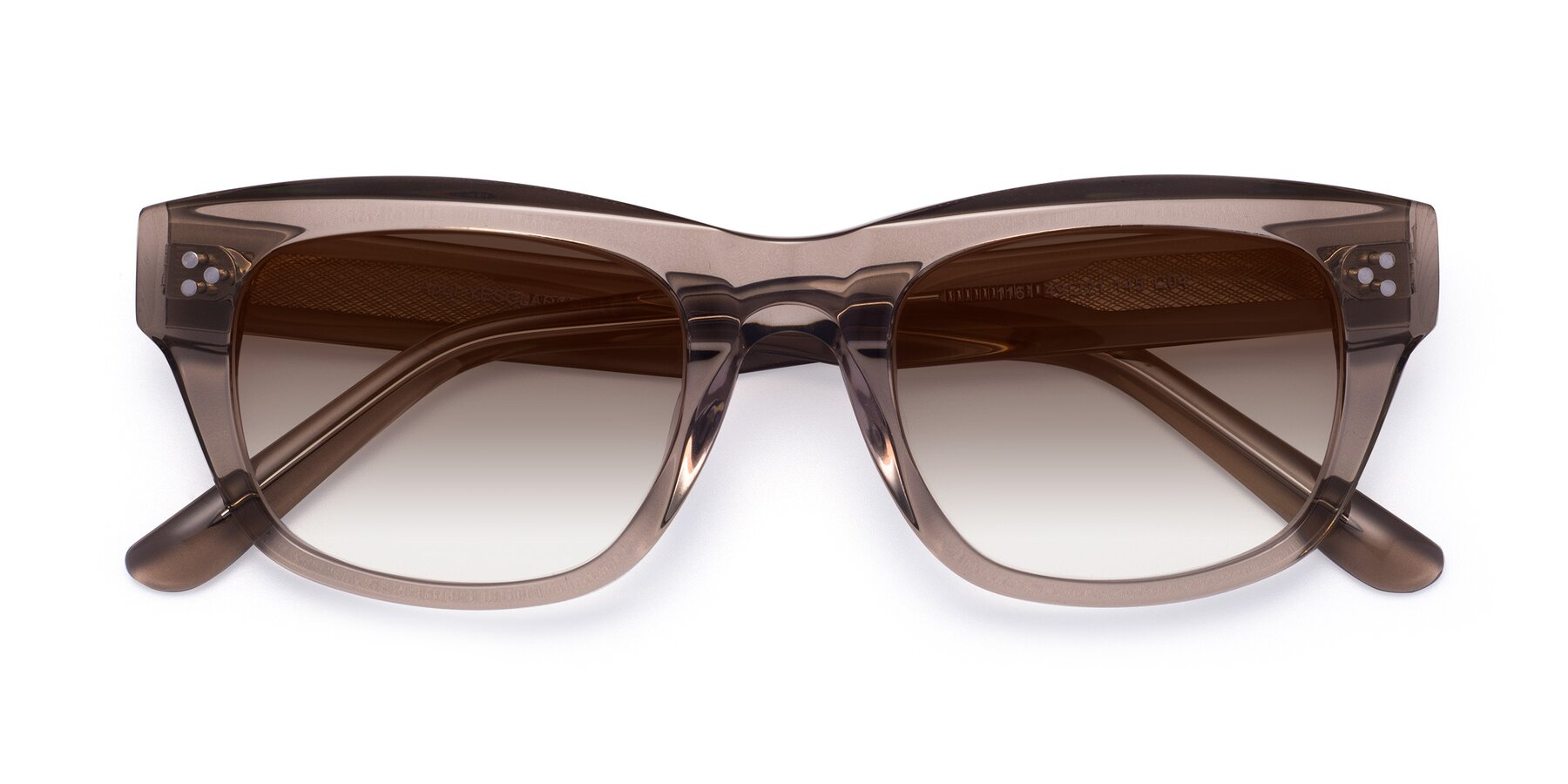 Folded Front of April in Amber with Brown Gradient Lenses