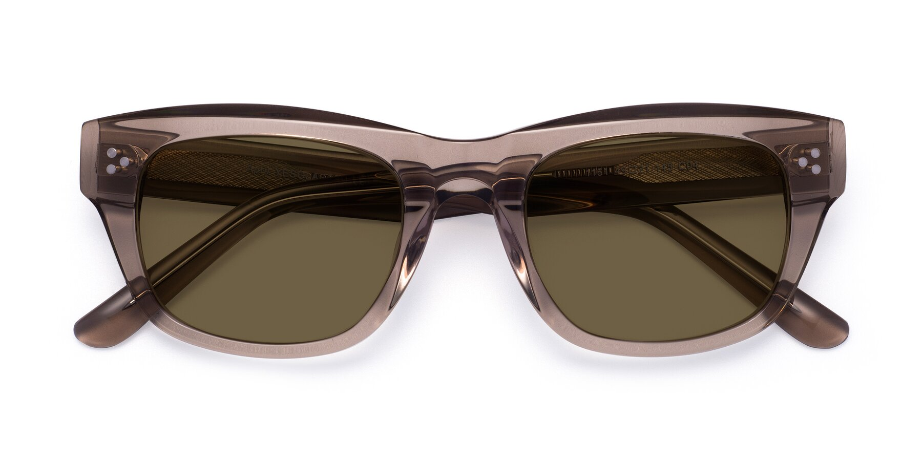 Folded Front of April in Amber with Brown Polarized Lenses