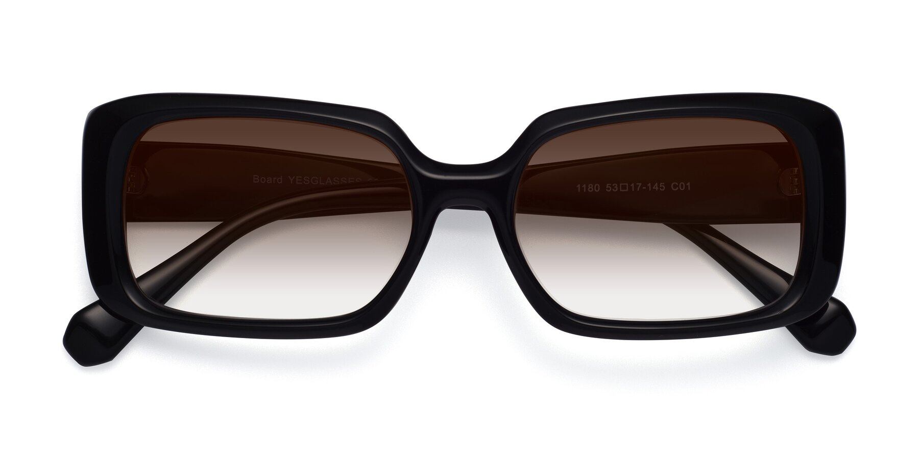 Folded Front of Board in Black with Brown Gradient Lenses