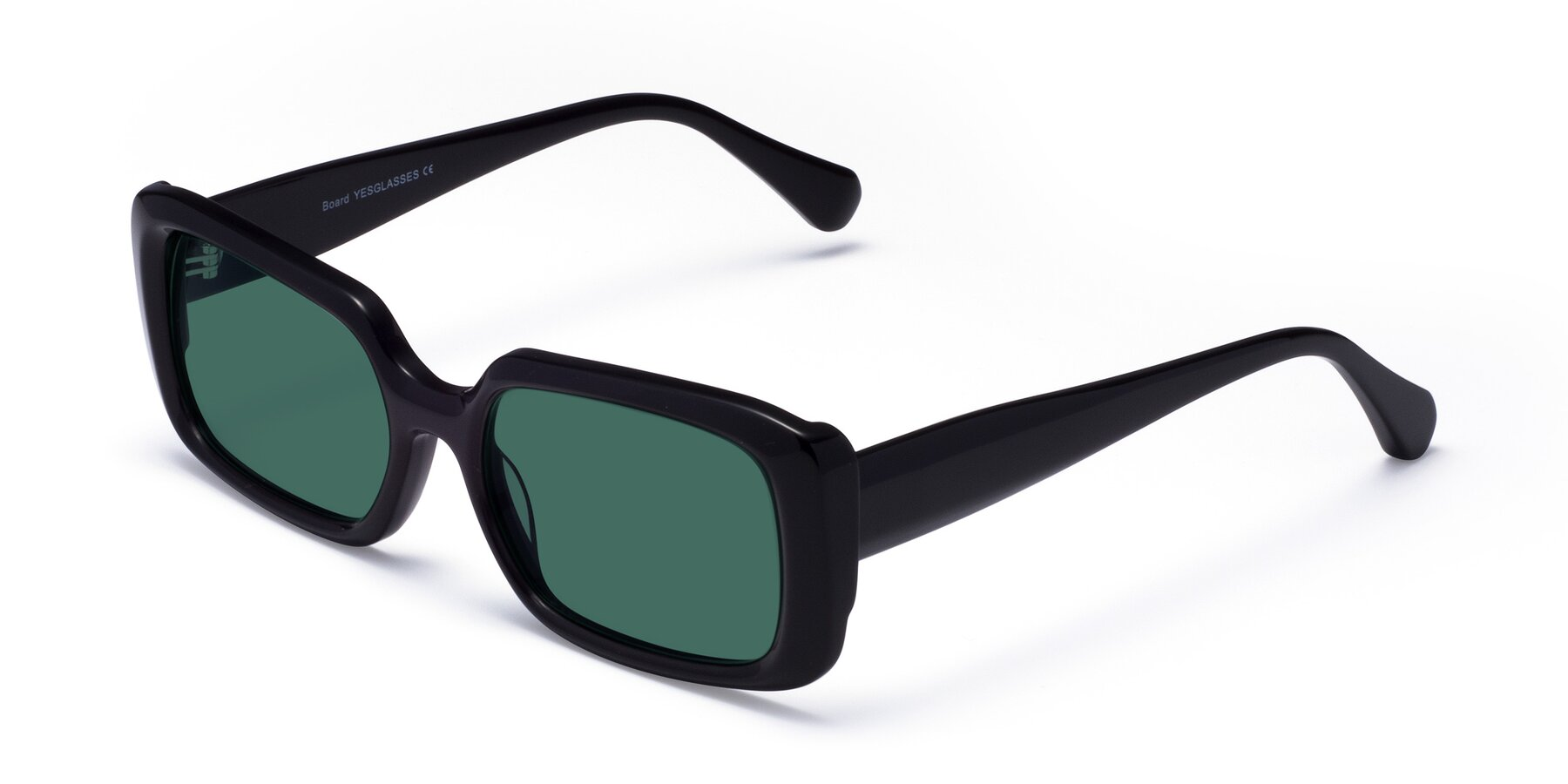 Angle of Board in Black with Green Polarized Lenses