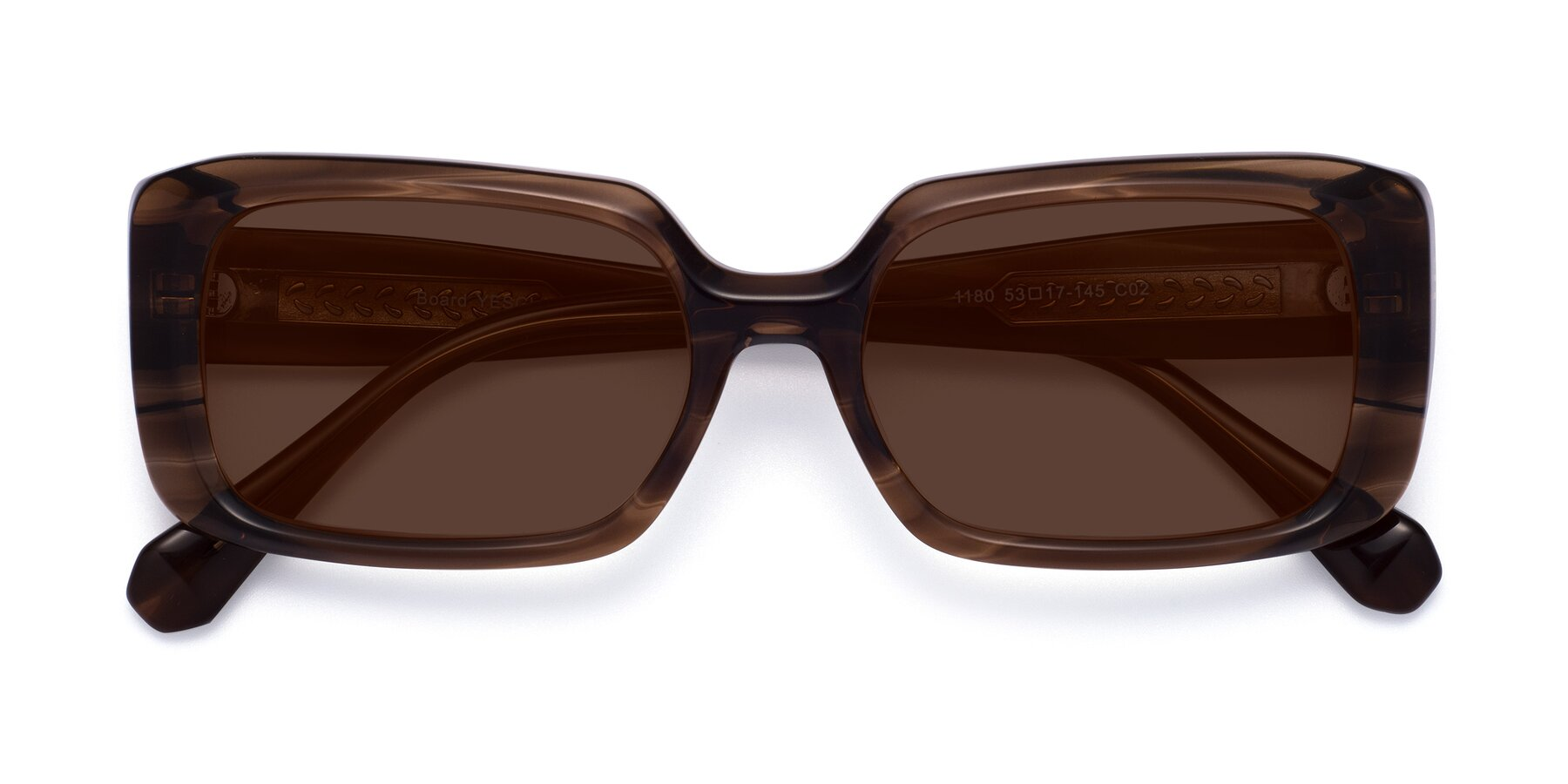Folded Front of Board in Coffee with Brown Tinted Lenses