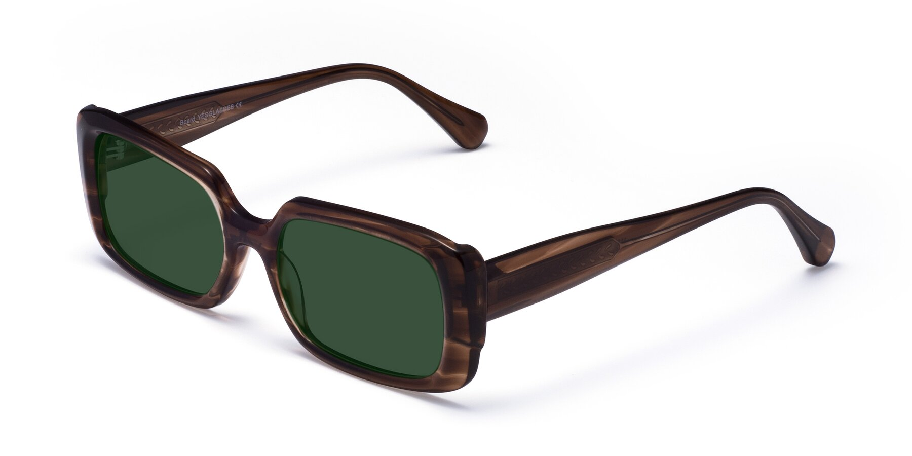 Angle of Board in Coffee with Green Tinted Lenses