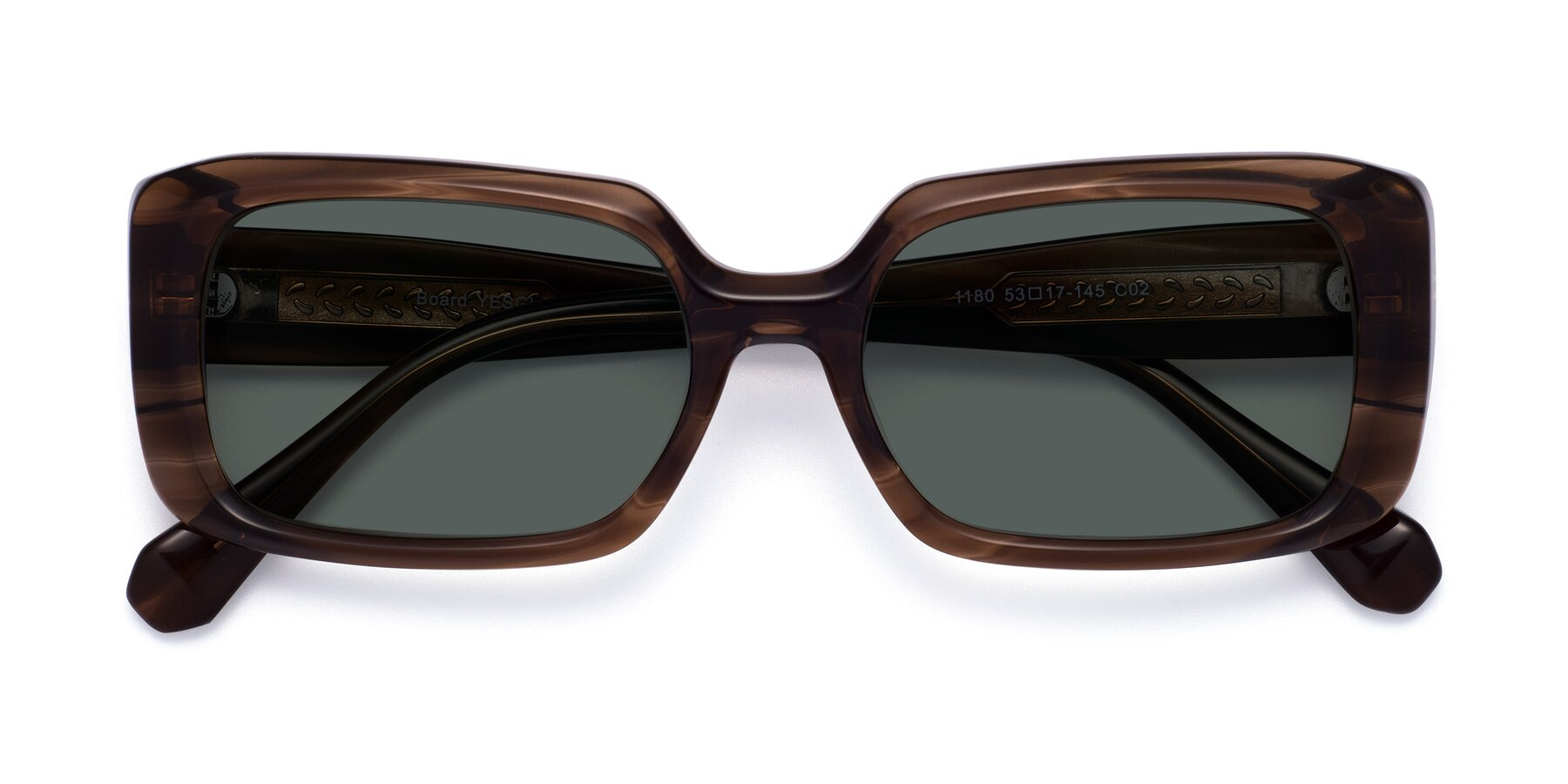 Folded Front of Board in Coffee with Gray Polarized Lenses