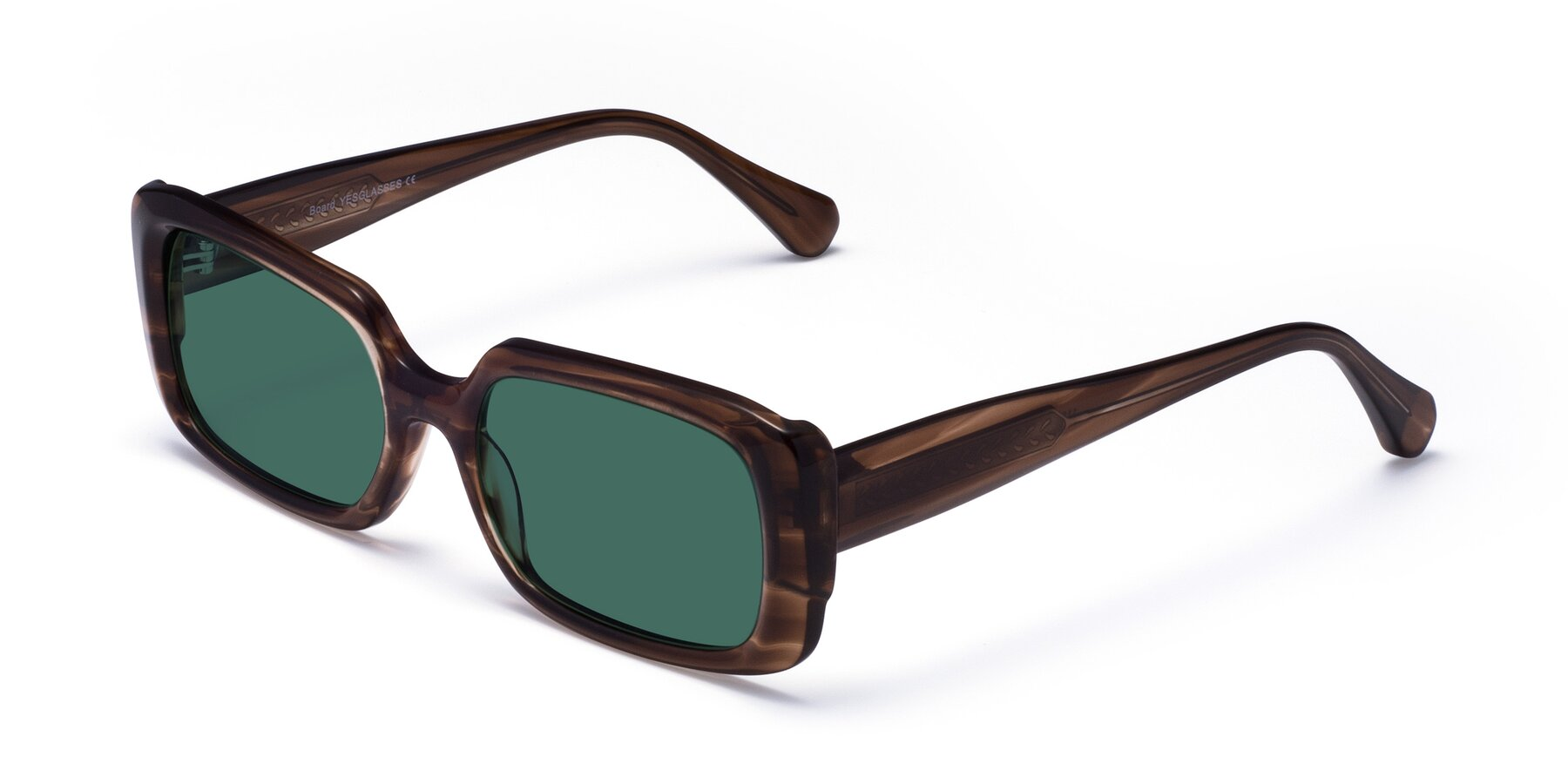 Angle of Board in Coffee with Green Polarized Lenses