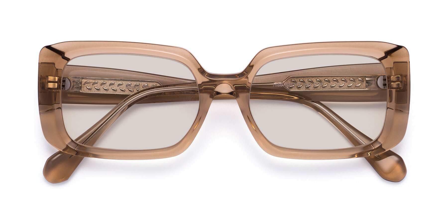 Folded Front of Board in Caramel with Light Brown Tinted Lenses