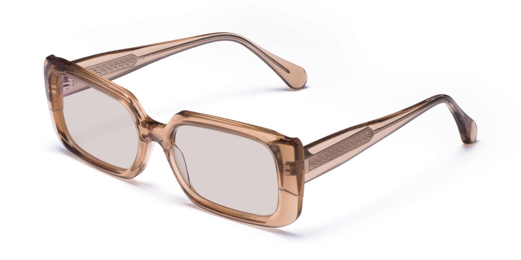 Angle of Board in Caramel with Light Brown Tinted Lenses