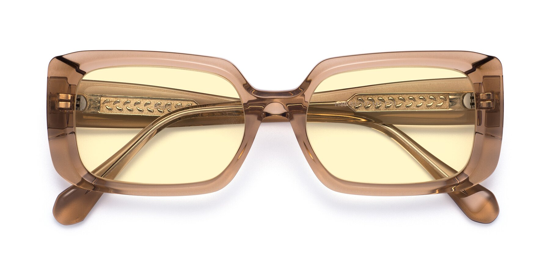 Folded Front of Board in Caramel with Light Yellow Tinted Lenses