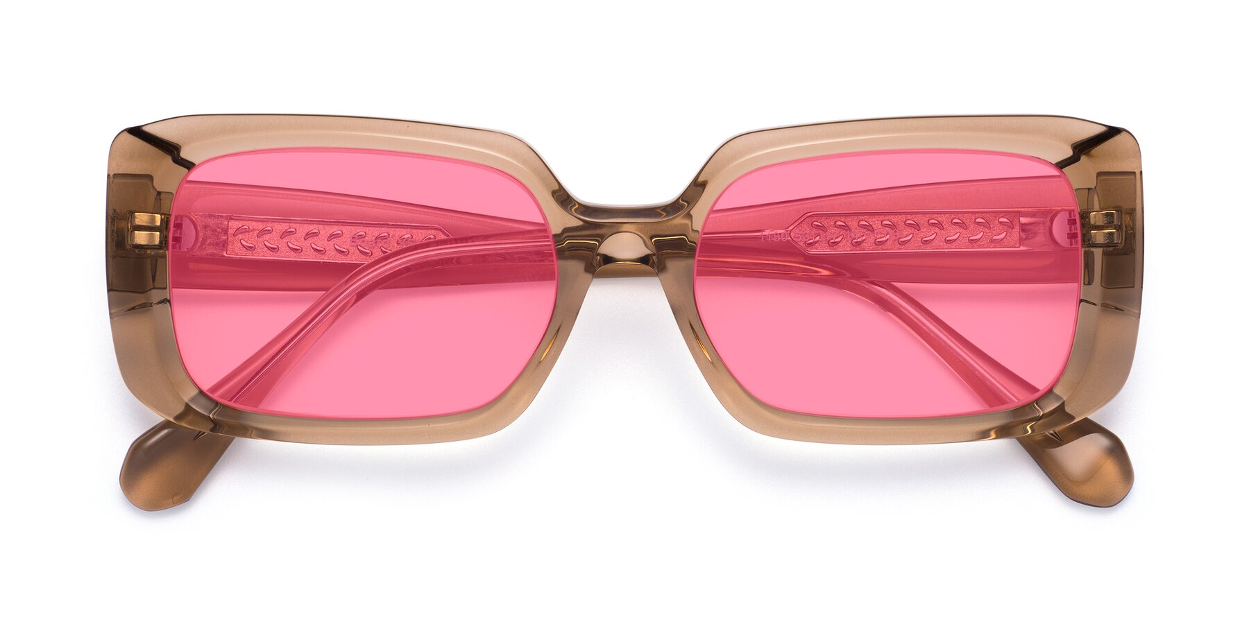 Folded Front of Board in Caramel with Pink Tinted Lenses