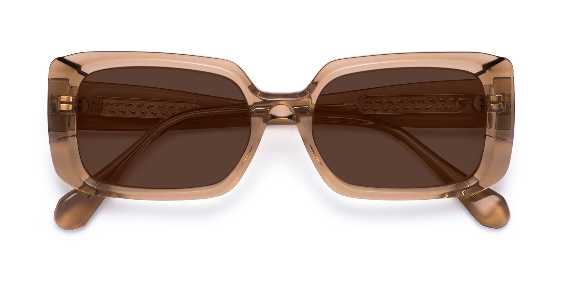 Folded Front of Board in Caramel with Brown Tinted Lenses