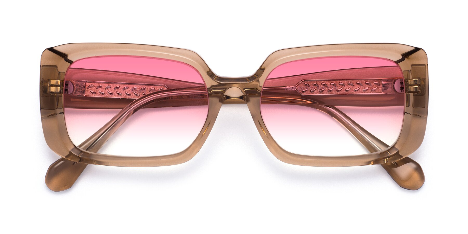 Folded Front of Board in Caramel with Pink Gradient Lenses