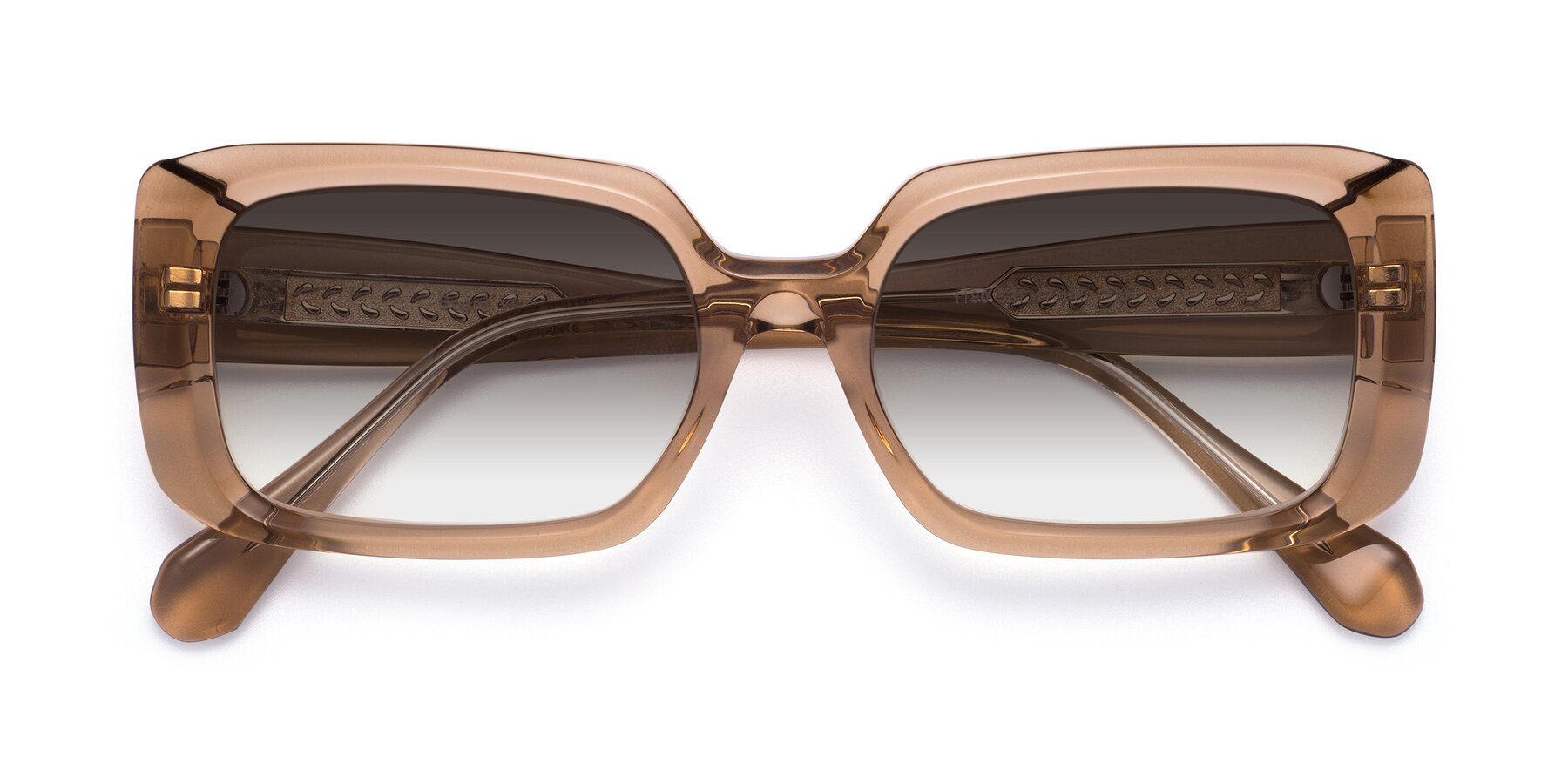 Folded Front of Board in Caramel with Gray Gradient Lenses