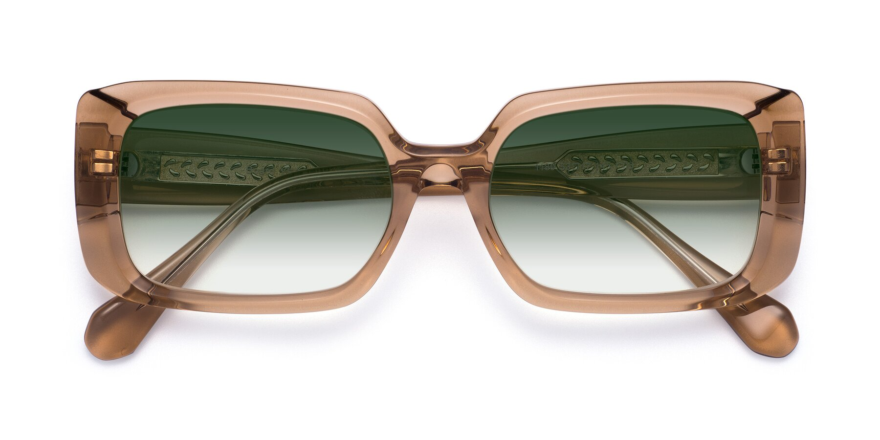 Folded Front of Board in Caramel with Green Gradient Lenses