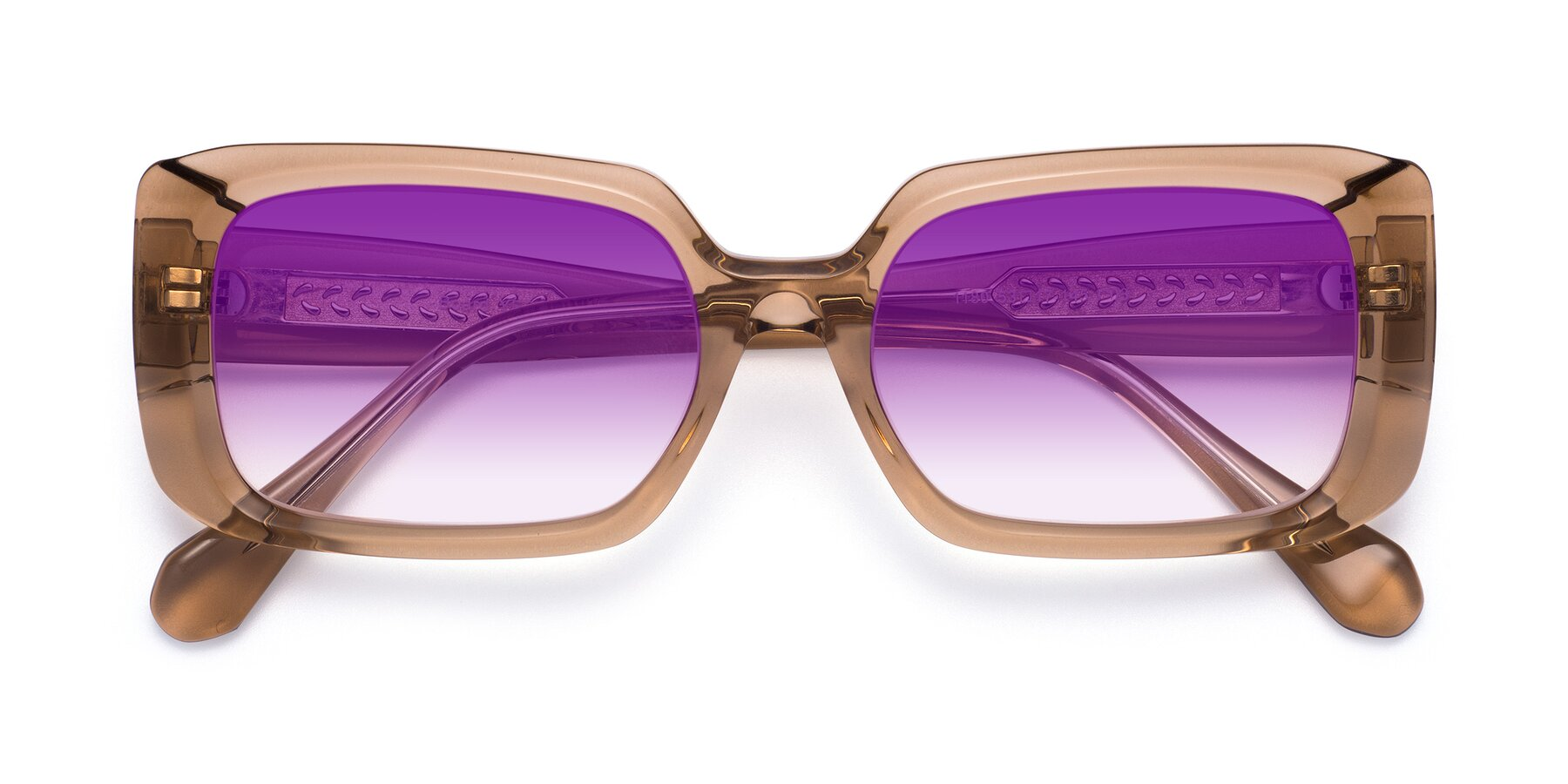 Folded Front of Board in Caramel with Purple Gradient Lenses
