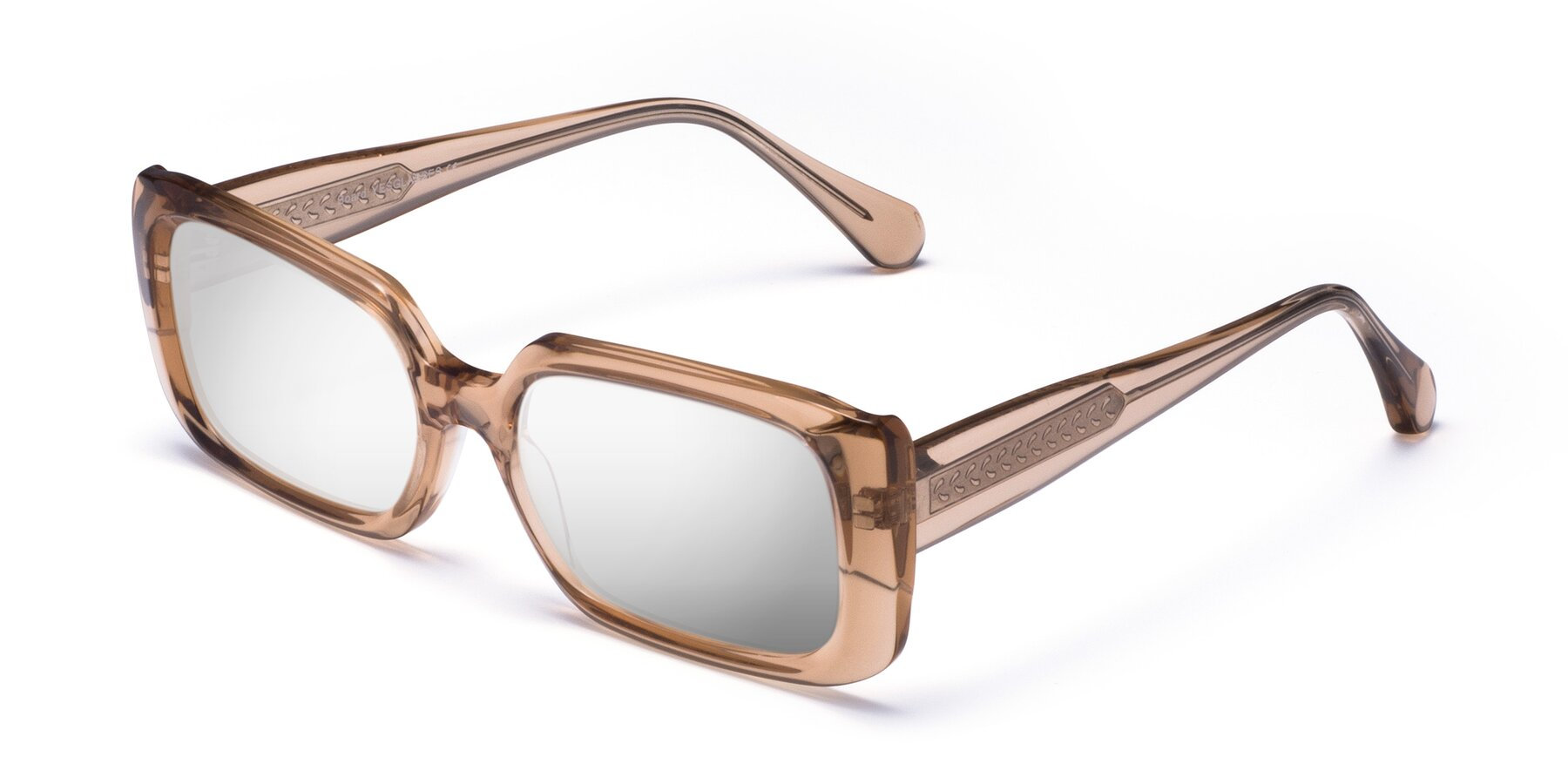 Angle of Board in Caramel with Silver Mirrored Lenses