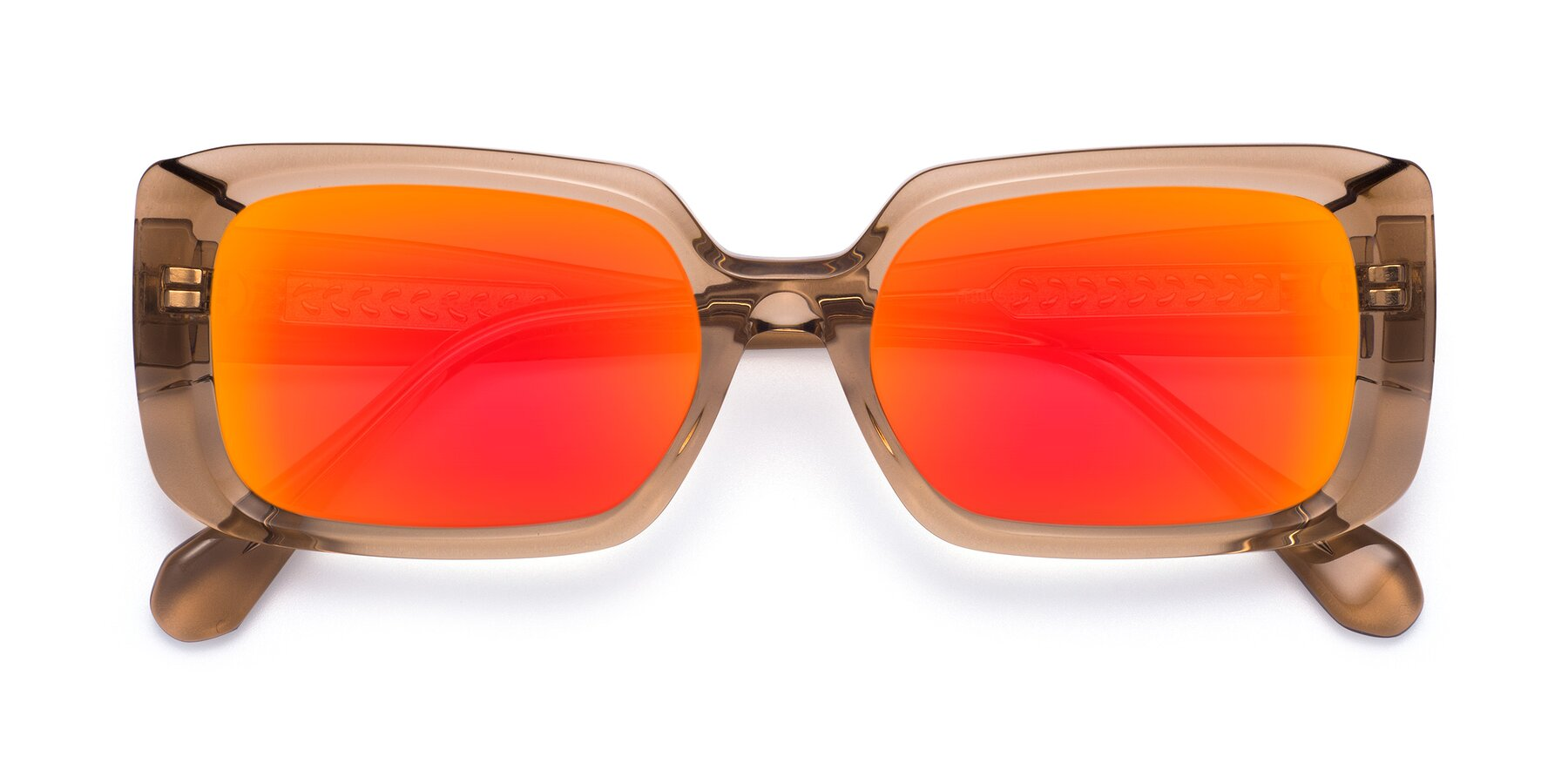 Folded Front of Board in Caramel with Red Gold Mirrored Lenses