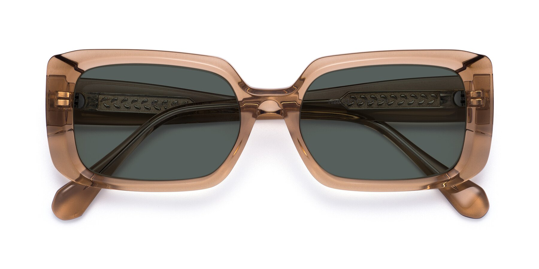 Folded Front of Board in Caramel with Gray Polarized Lenses