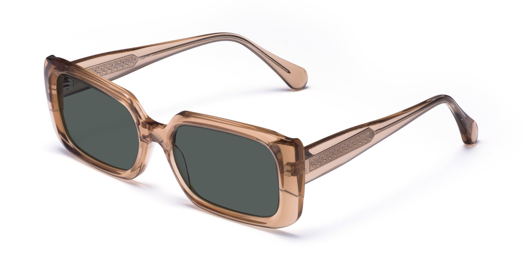Angle of Board in Caramel with Gray Polarized Lenses