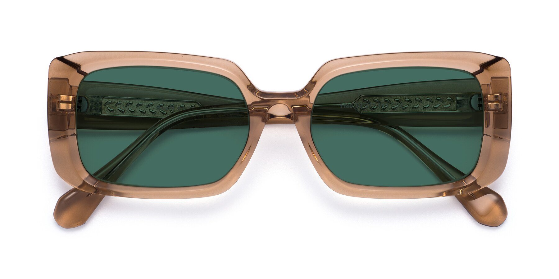Folded Front of Board in Caramel with Green Polarized Lenses