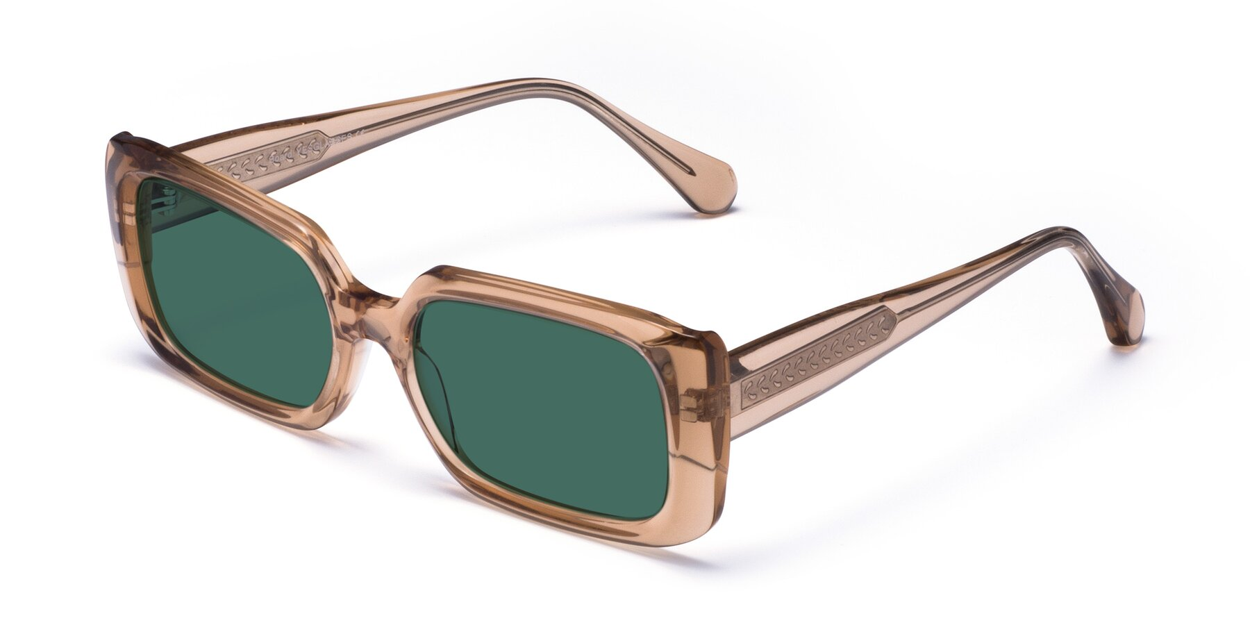 Angle of Board in Caramel with Green Polarized Lenses