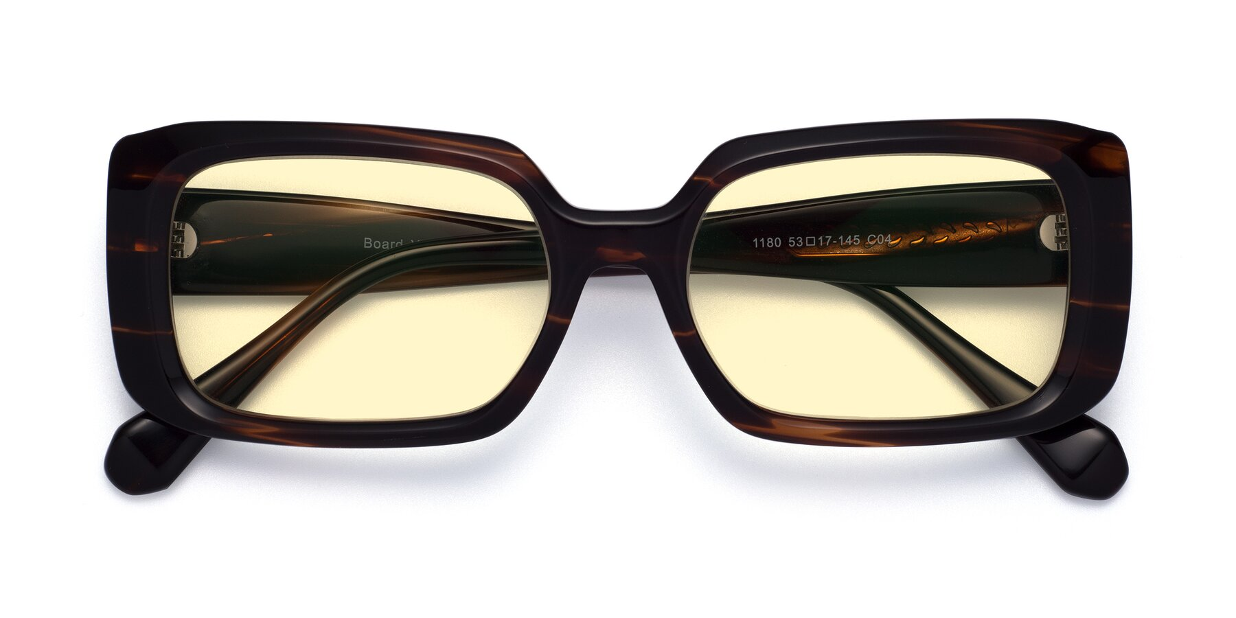 Folded Front of Board in Wine with Light Yellow Tinted Lenses