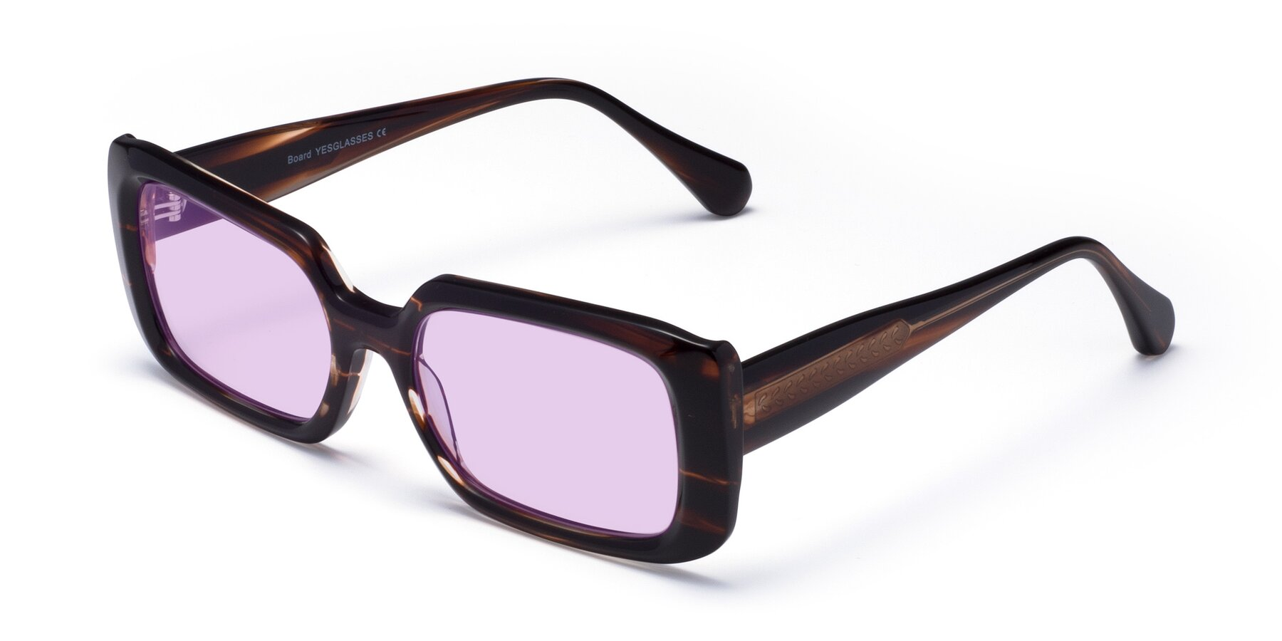 Angle of Board in Wine with Light Purple Tinted Lenses