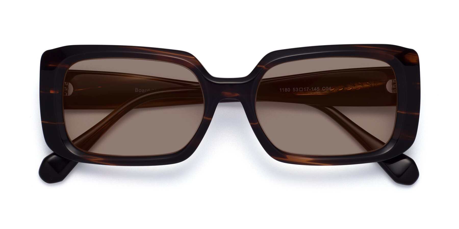 Folded Front of Board in Wine with Medium Brown Tinted Lenses