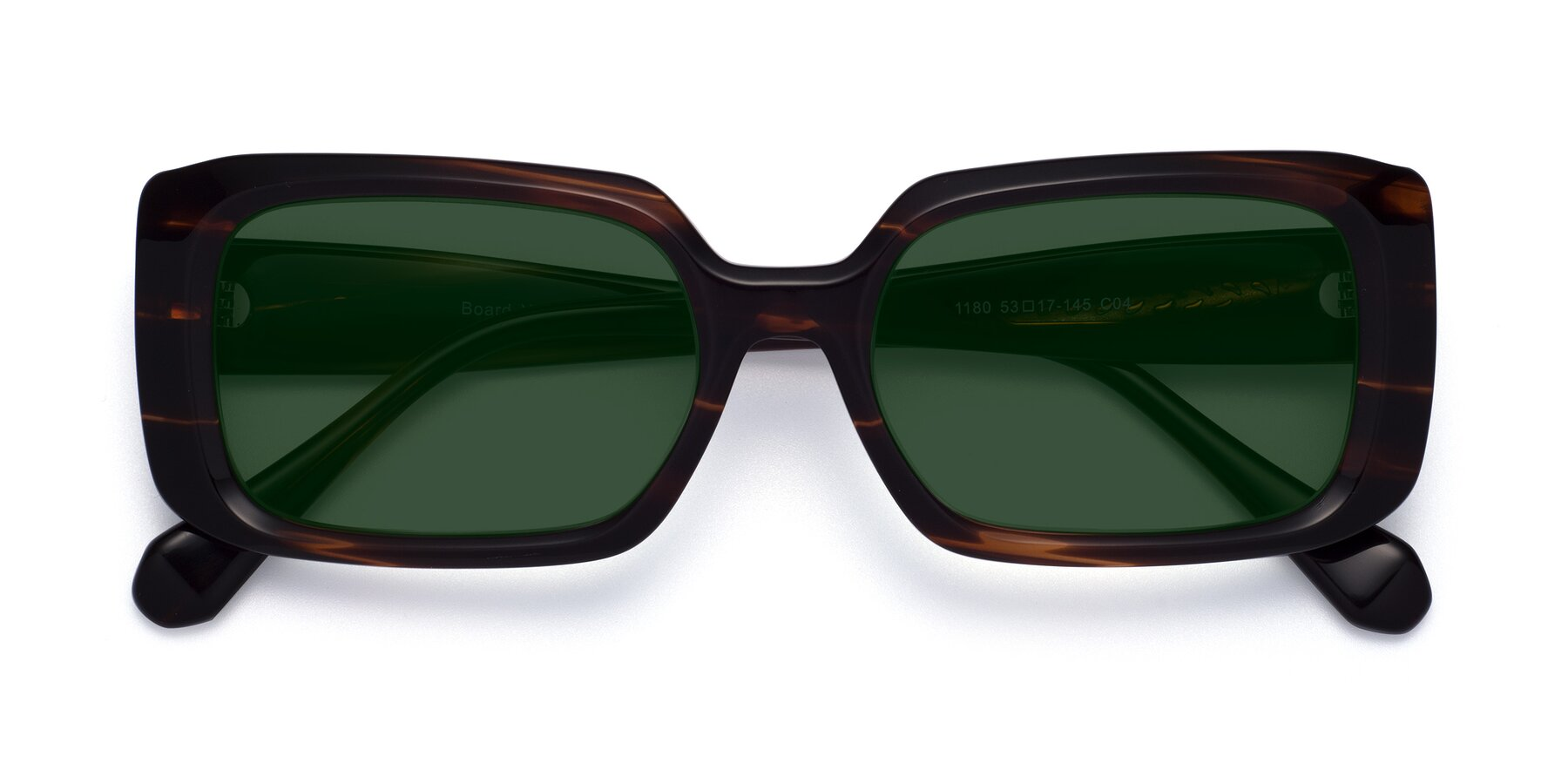 Folded Front of Board in Wine with Green Tinted Lenses