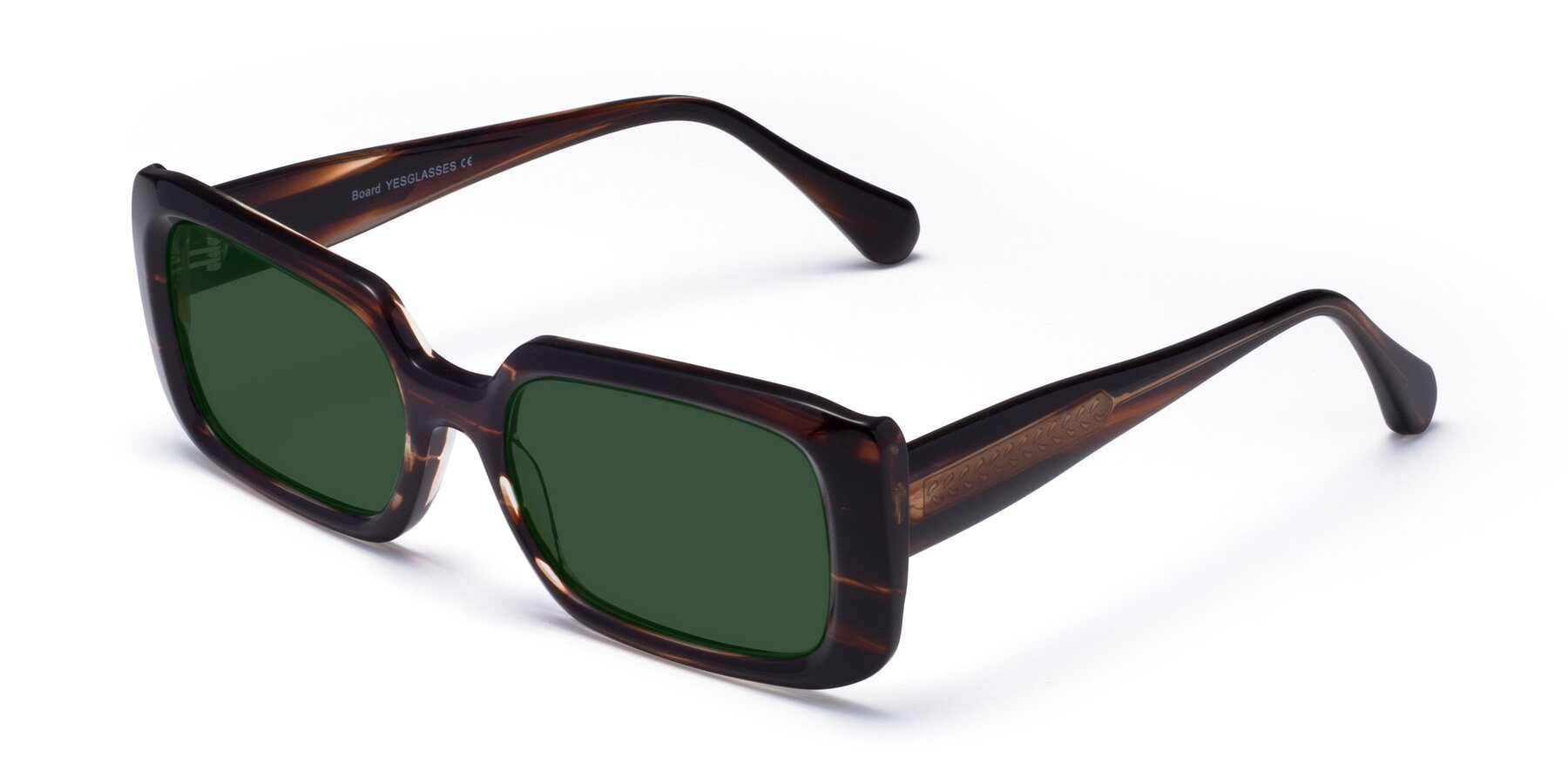 Angle of Board in Wine with Green Tinted Lenses