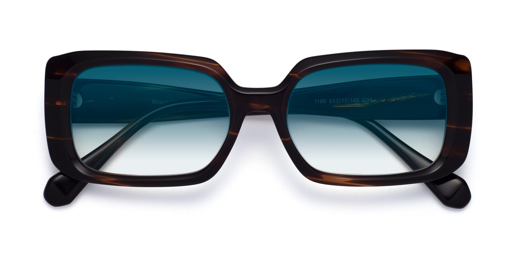Folded Front of Board in Wine with Blue Gradient Lenses