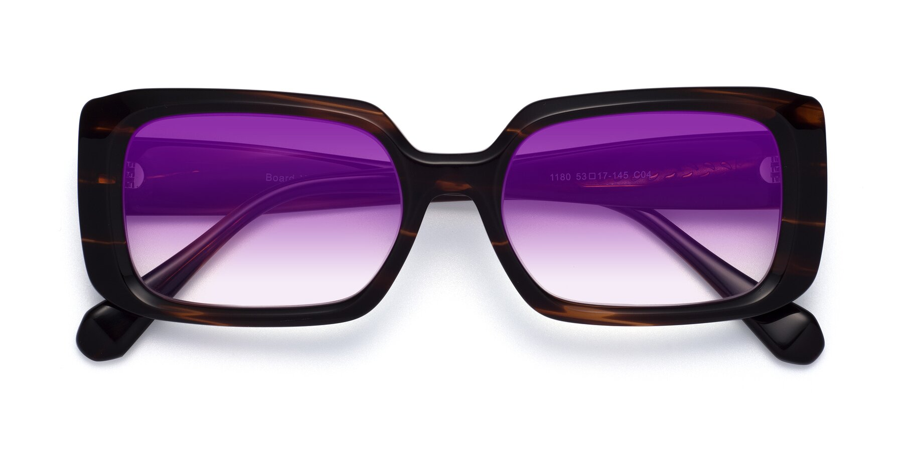Folded Front of Board in Wine with Purple Gradient Lenses