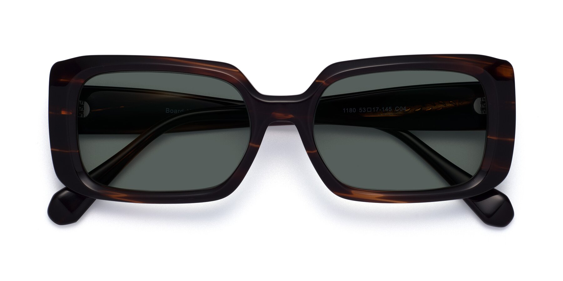 Folded Front of Board in Wine with Gray Polarized Lenses